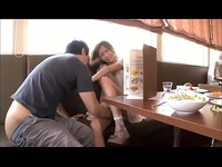 Hot japanese teen get fucked at the restaurant in front of customers