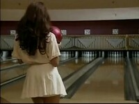 she plays bowling better without panties