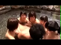Japanesse Onsen Orgy