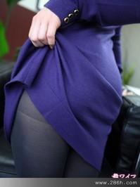 氣質的紫色OL,興奮時連乳頭都勃起了